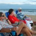 Sunset at Kekaha Beach, Kauai, with Dand L